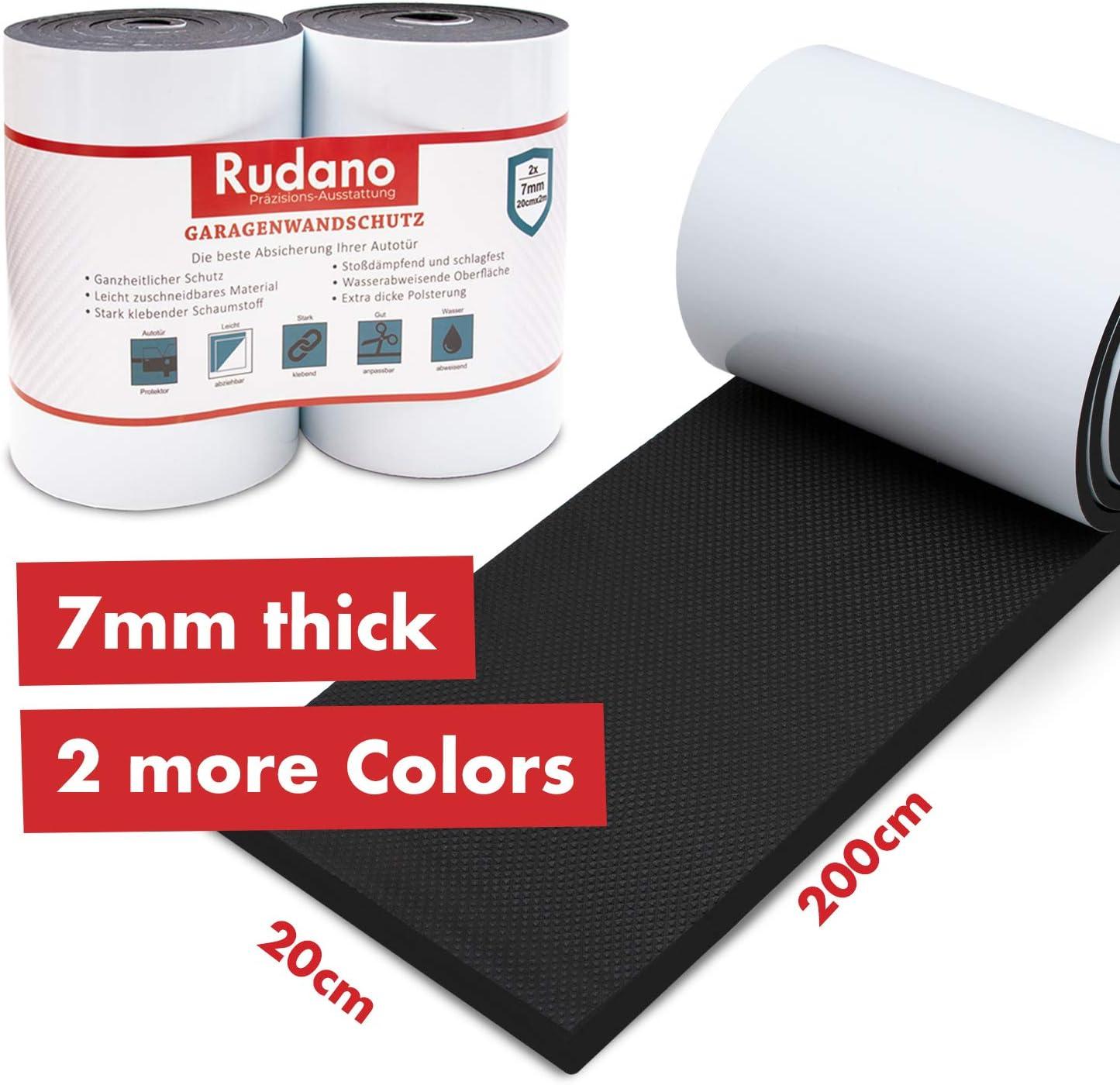 Protección de pared Rudano - Espuma autoadhesiva para garajes Protección de la pared - La protección de la puerta protege su coche de arañazos, abolladuras y rasguños