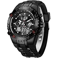Reloj de Pulsera Deportivo para Hombre, Resistente al Agua, cronómetro, Fecha, Alarma, Luminoso, Digital, analógico…