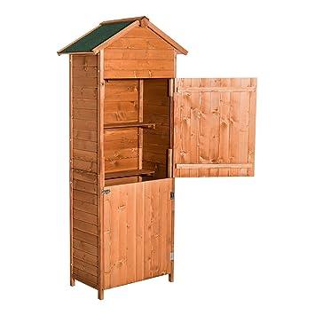 homcom wooden shed timber garden storage shed outdoor sheds 190cm