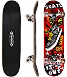 ChromeWheels 31 inch Skateboard Complete Longboard Double Kick Skate Board Cruiser 8 Layer Maple Deck for Extreme Sports…