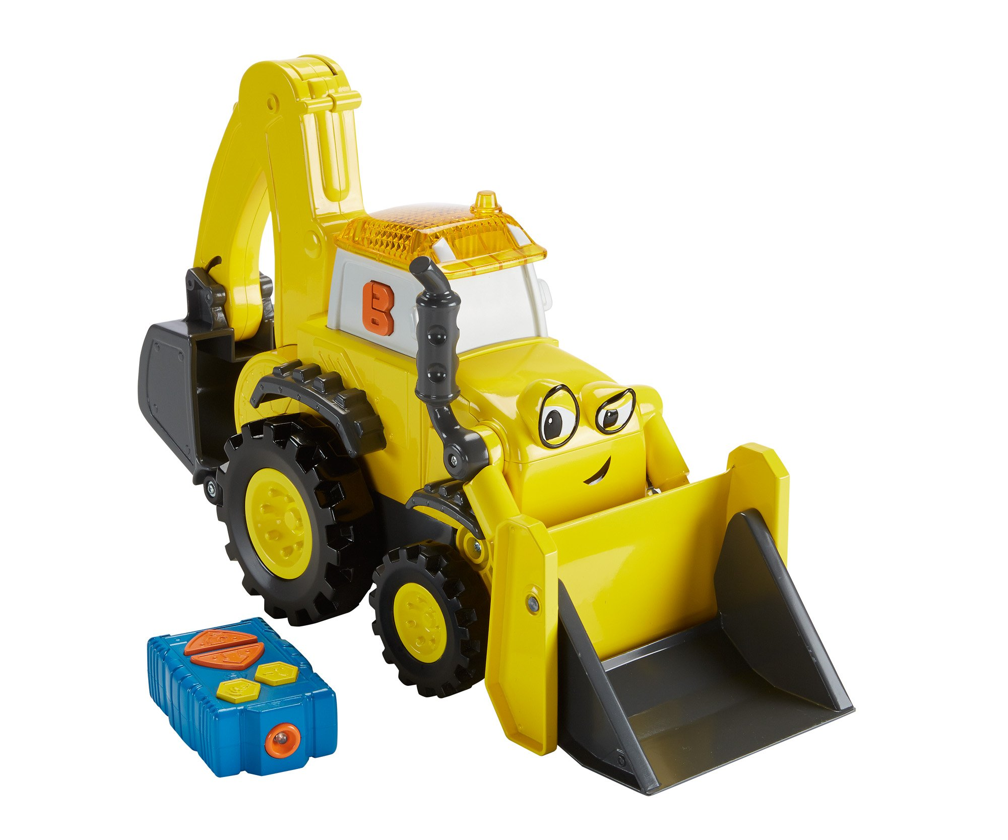 Fisher price bob the builder r c super scoop chickadee for Price builders