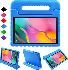 BMOUO Kids Case for Samsung Galaxy Tab A 10.1 (2019) SM-T510/T515, Shockproof Light Weight Protective Handle Stand Kids Case for Galaxy Tab A 10.1 Inch 2019 Release SM-T510/T515 - Blue