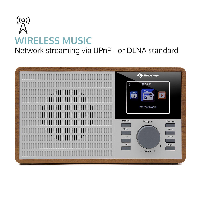 Auna Radio Internet Ir 160 Radio R Veil Radio Num Rique Wifi