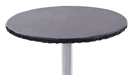 Amazon Com Yourtablecloth Heavy Duty Vinyl Round Fitted Tablecloth