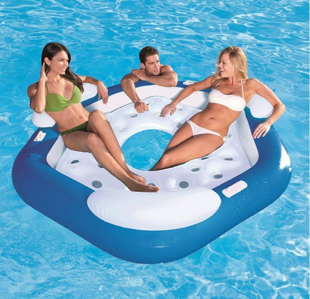 FAFY Sommer Wasser Aufblasbare Reihe Pool Bett Float Stuhl Ring Schwimmen Spielzeug