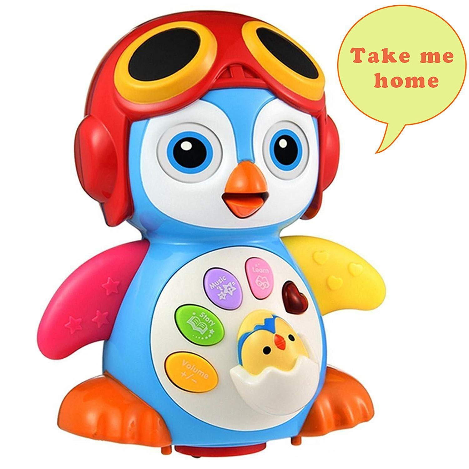 HOMOFY Baby Toys Super Fun Musical Dancing Penguin EQ& Intelligence Training Swing,Songing,Walking,Light,Tell a Story -New Toys for Girls and Boys Kids or Toddlers