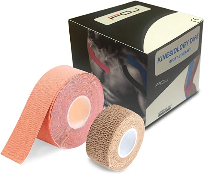 10pieces 5cm*20m Pre-cut Kinesiology Tape Athletic Recovery Muscle Pain Relief