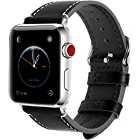 Apple Watch Band 38mm and 42mm, 8 Colors Fullmosa Wax Leather iWatch Band/Strap for Apple Watch Series 3, Series 2, Series 1