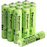 NiMH Rechargeable AAA Battery: Pack of 12 600mAh 1.2v Pre-Charged Triple A Solar Battery for Solar Lights | Remote…