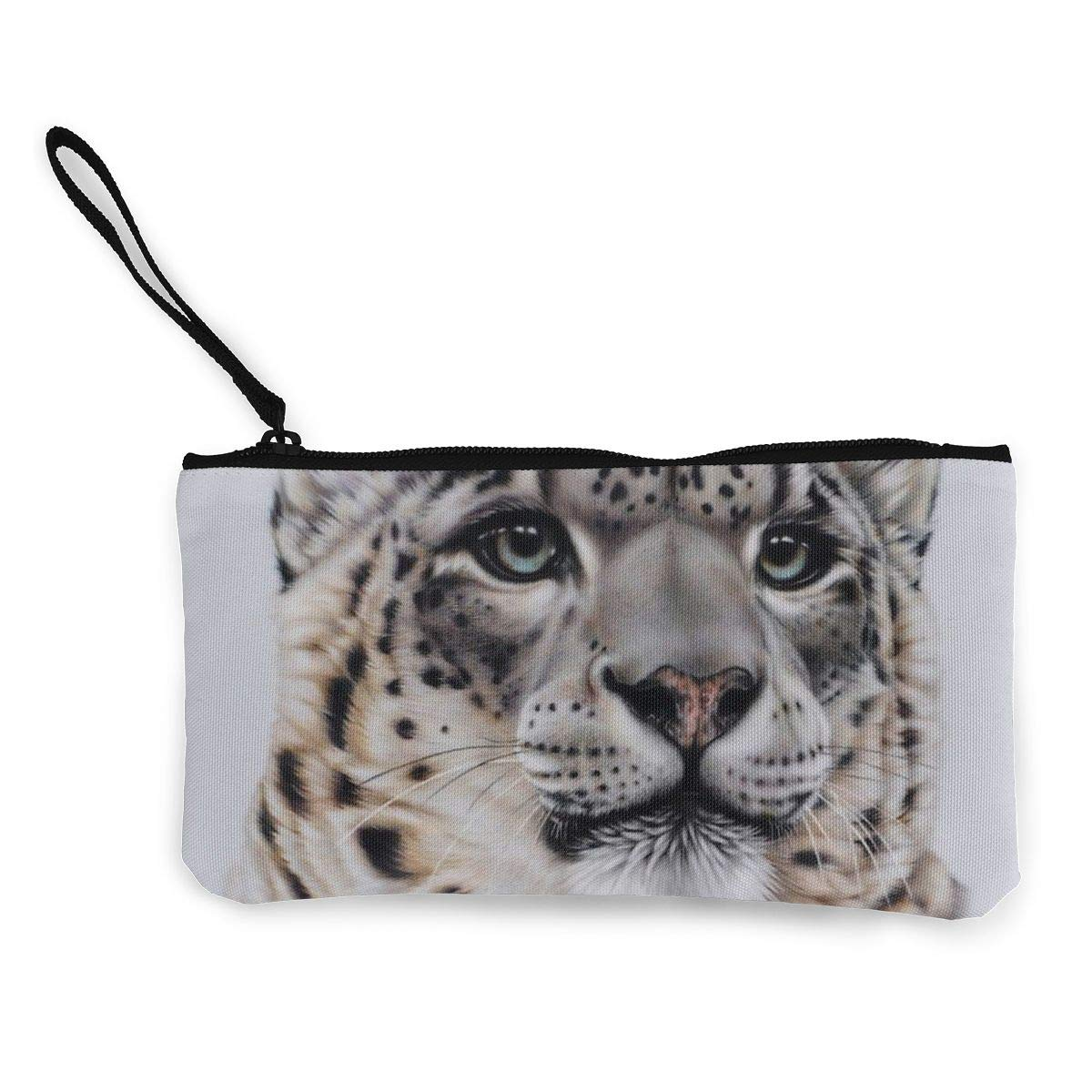 Canvas Cash Coin Purse,Diamond Diy Painting Leopard Print Make Up Bag Zipper Small Purse Wallets