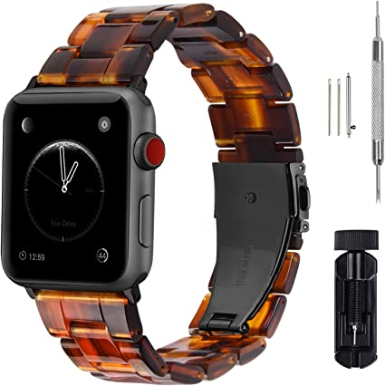 Fullmosa Compatible Apple Watch 38mm/40mm/42mm/44mm, Bright Resin Apple Watch Band for iWatch Band Series 5/4/3/2/1, Hermes, Nike+, Edition, Sport, ...