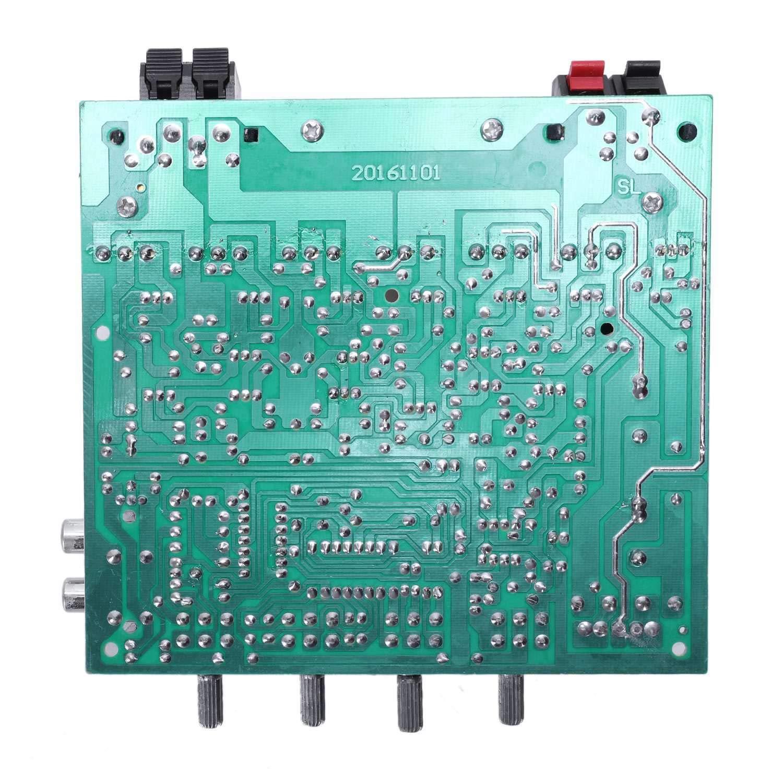 Cikuso Placa De Amplificador De Audio 2.1 Canal 240 W Subwoofer De Alta Potencia Placa De Amplificador Amp Dual Ac18-24V Cine En Casa