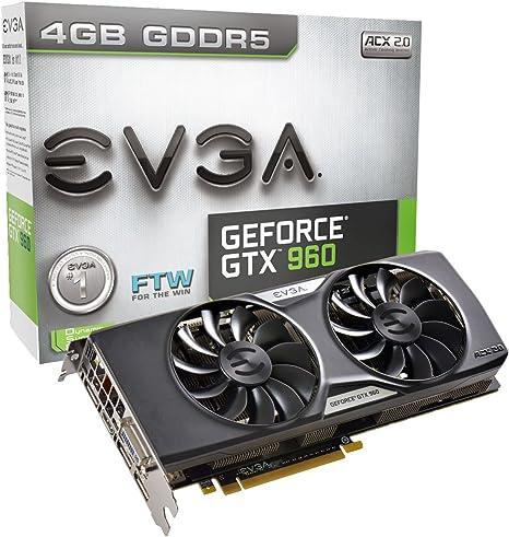 EVGA 04G-P4-3968-KR NVIDIA GeForce GTX 960 4GB - Tarjeta gráfica ...