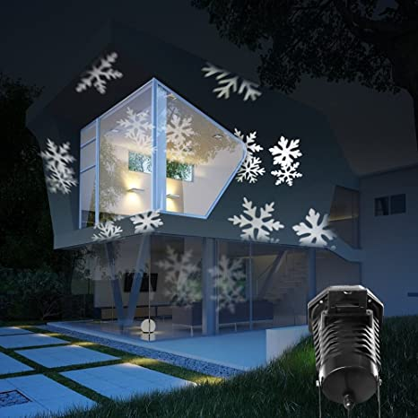 Snowflake Outdoor Lights Amazon christmas projection lights led projector light kohree christmas projection lights led projector light kohree outdoor light snowflake spotlight 10 pattern sparkling white workwithnaturefo