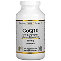 California Gold Nutrition CoQ10 USP with Bioperine, 100 mg, 360 Veggie Capsules