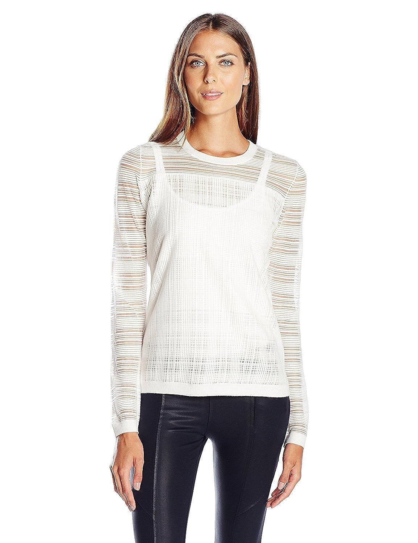 Bailey 44 Women's Two Way Street Sweater Chalk Medium [並行輸入品] B075CJBVKF