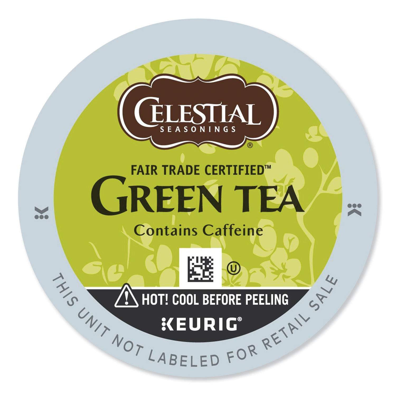 Celestial Seasonings Authentic Green Tea, K-Cup Portion Pack for Keurig K-Cup Brewers, 24-Count by Celestial Seasonings