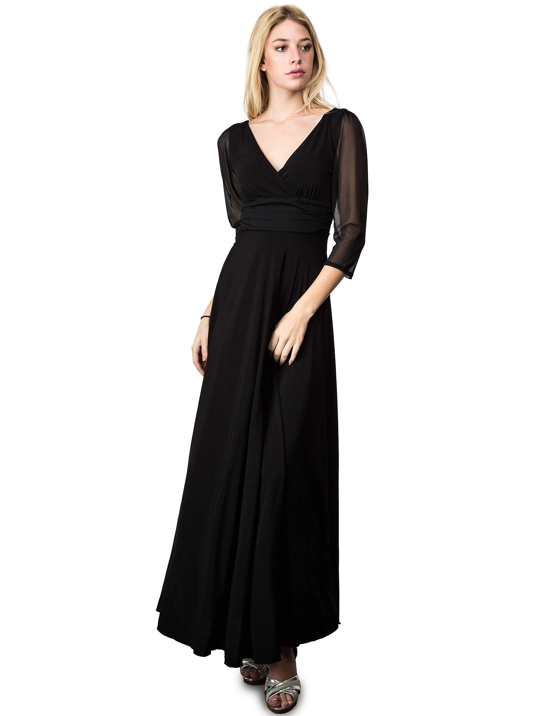 EVANESE Women\'s Plus Size Evening Party Formal Long Dress ...