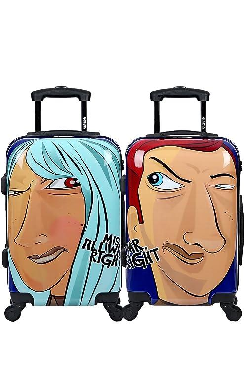 Maleta de cabina Equipaje de mano 55x35x20 Maleta juvenil trolley de viaje Ryanair Maleta de viaje
