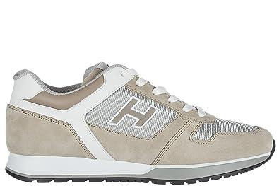 Hogan Herrenschuhe Herren Wildleder Sneakers Schuhe h321 Schwarz