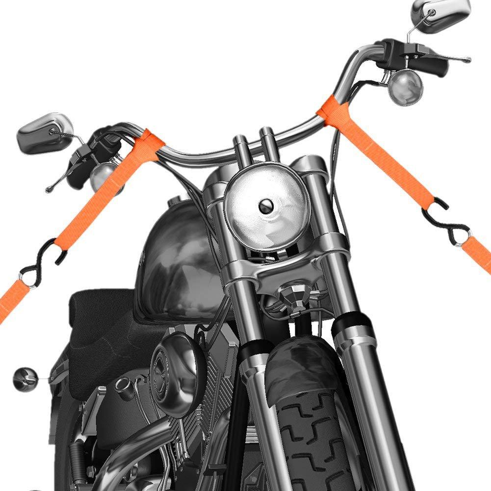 Abimars Soft Loop Tie Down Securing Loop Straps Lawn /& Garden Equipment nylon tie down straps Dirt Bikes Loops For Securing ATV 6 Pack UTV Scooters Motorcycles