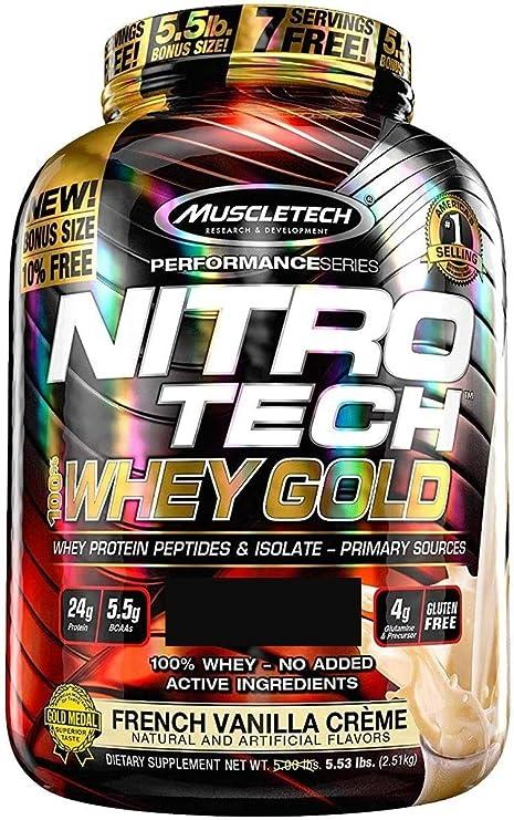 Muscletech Nitro Tech Whey Gold - 2,5 kg Double Rich Chocolate
