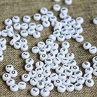 A10035 100 UNIDS/Bolsa DIY Granos Redondos de Acrílico Granos Flojos para el Collar Pulsera Número de Perlas Joyería con Encanto
