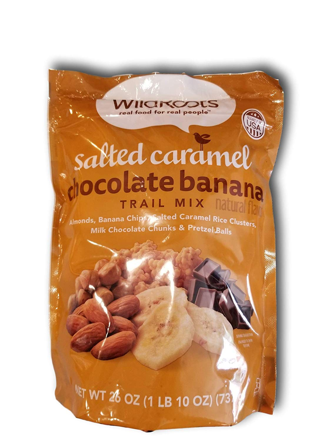 Wild Roots Salted Caramel Chocolate Banana Trail Mix 26oz (2) by Wild Roots