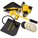 DomoBrands Heavy Furniture Movers - Complete Moving Tools Kit Including 4 Steel Rollers with 360 Degree Wheels for Hard…