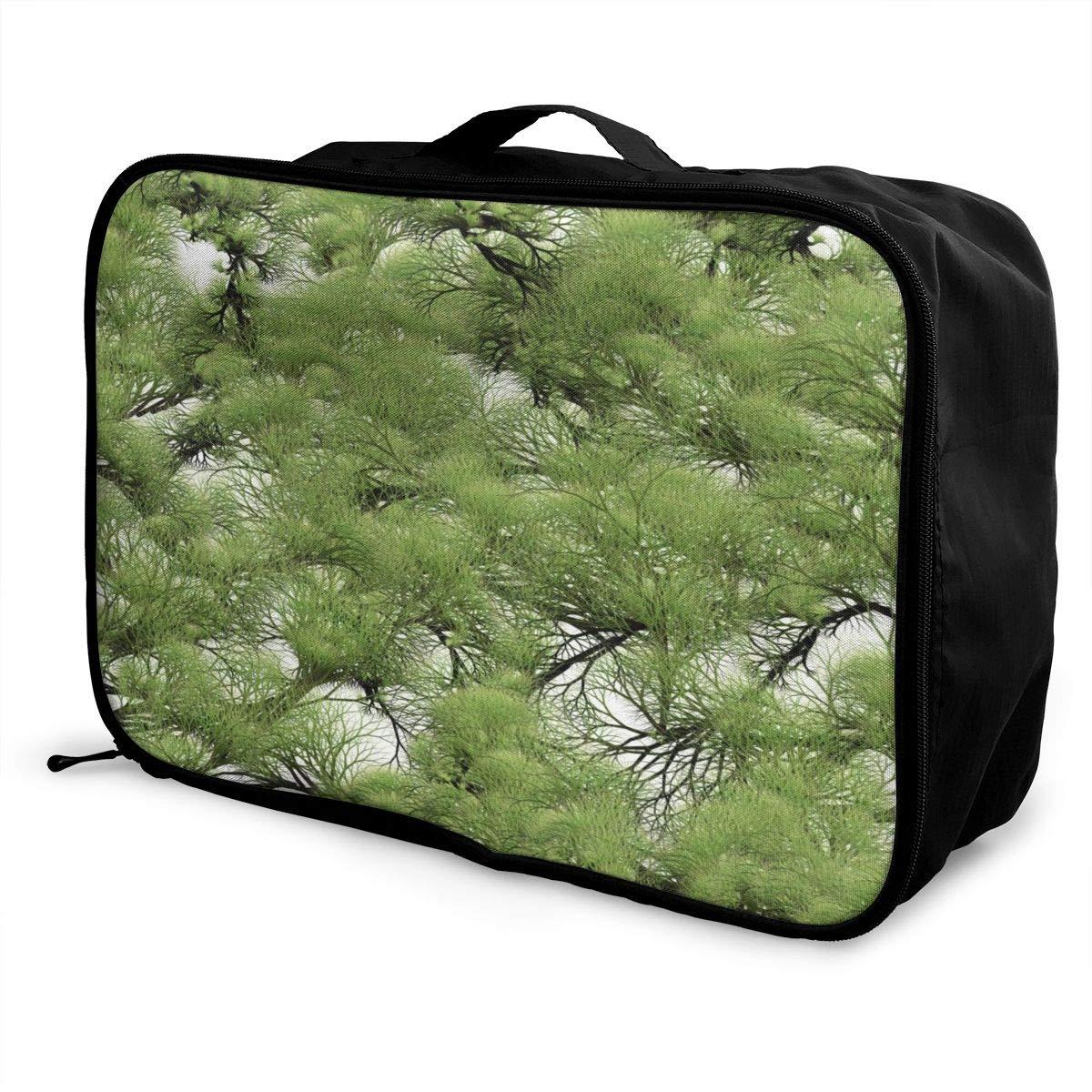 Travel Luggage Duffle Bag Lightweight Portable Handbag Trees Paint Large Capacity Waterproof Foldable Storage Tote