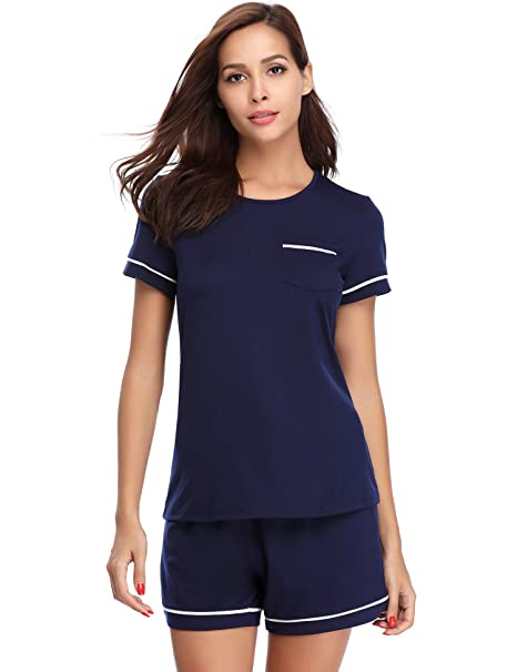 Sykooria Pijamas Corto Mujer Verano Sexy y Elegante,Suave Comodo Ligero y Agradable