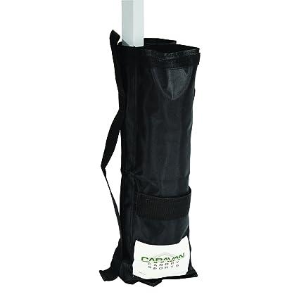 Caravan Canopy Outdoor Canopy Weight Bags - Set of 4, Black