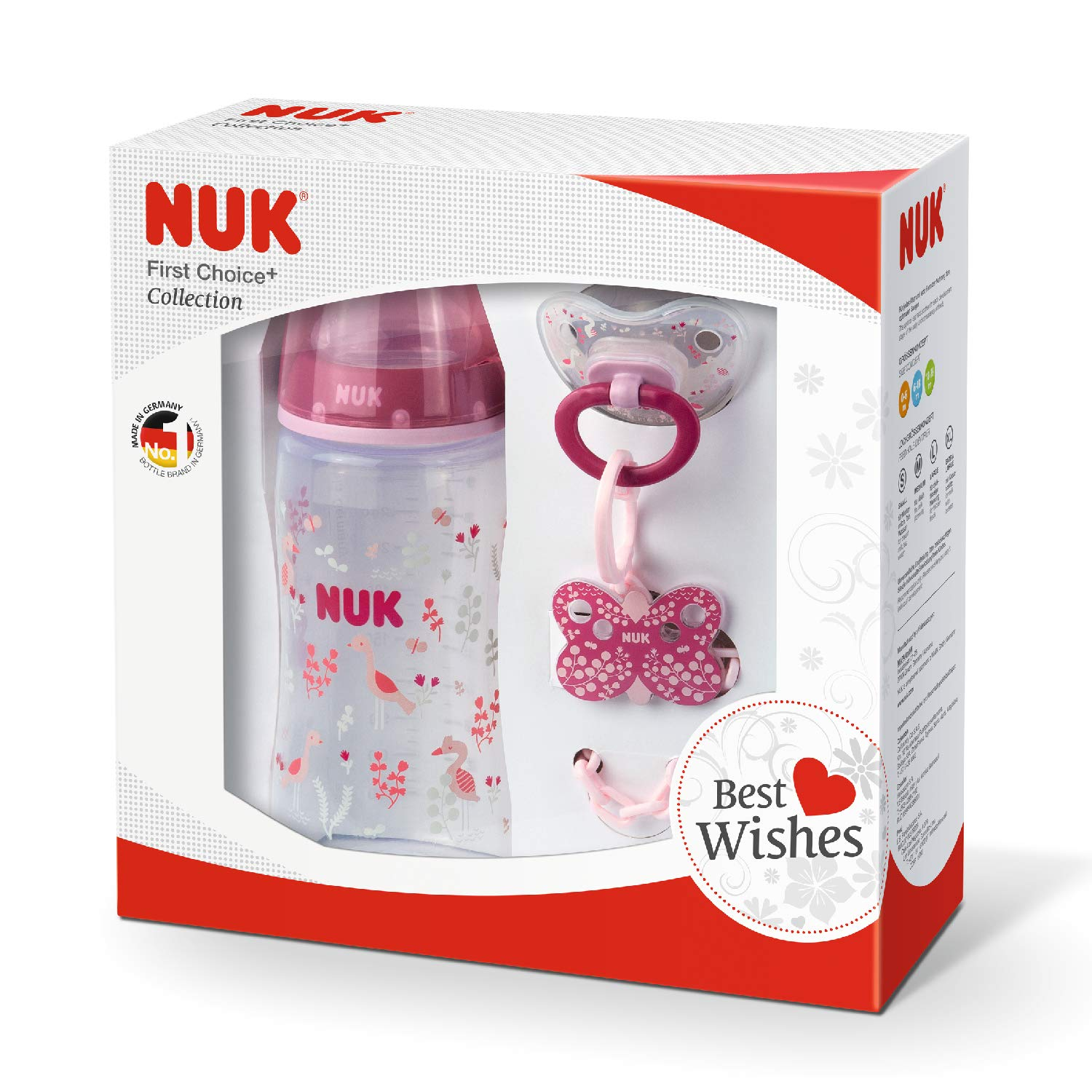 Amazon.com: NUK First Choice Plus Set, juego de botella con ...