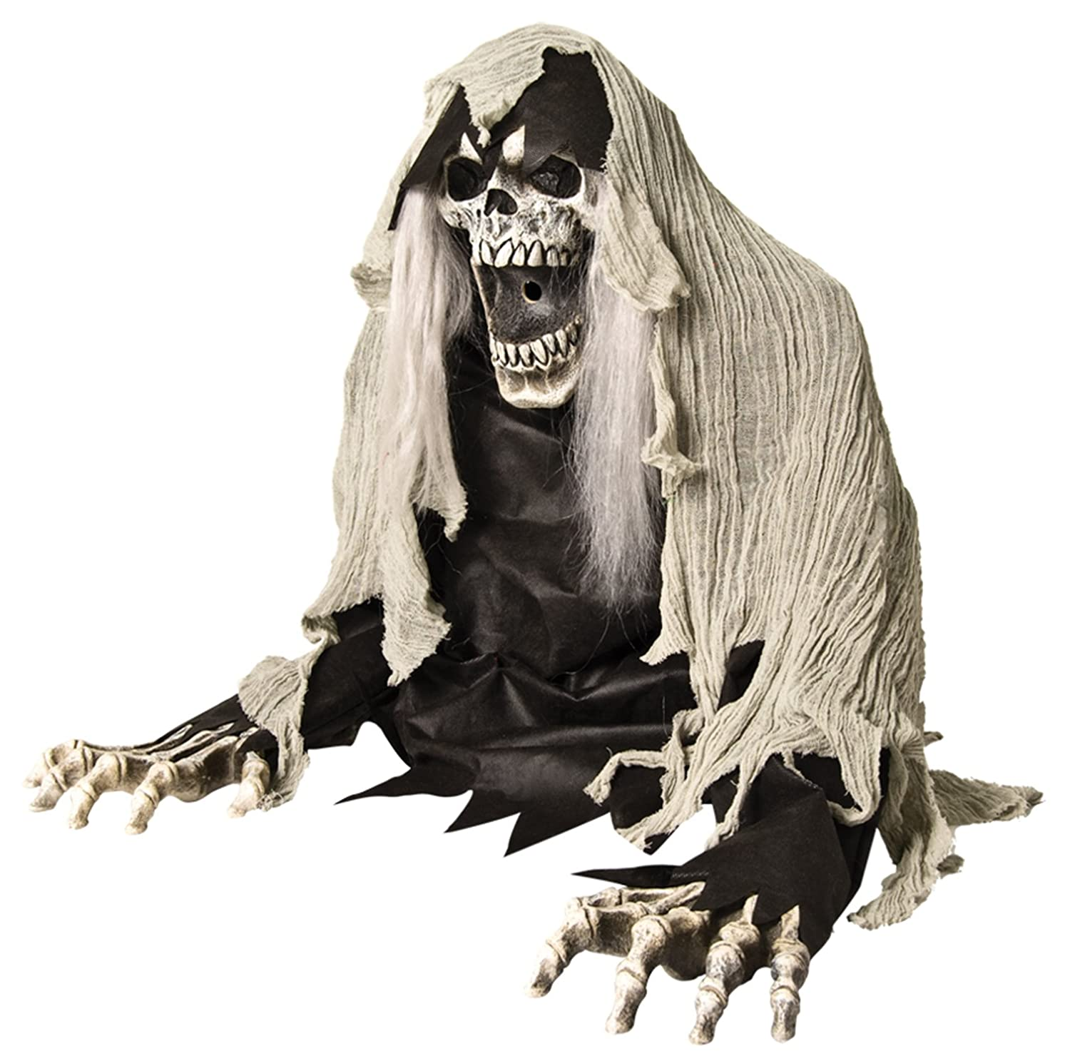 Life-Size Wretched Reaper ANIMATED ZOMBIE GHOUL Fog Machine Accessory Haunt Prop HORROR-HALL