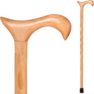 product image for Handcrafted Wood Walking Cane - Made in the USA by Brazos - Twisted Cherry - 34 Inches