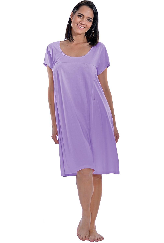 Discreet Maternity Nursing Nightgown / Breastfeeding Sleepwear