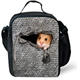 Bigcardesigns Hamster Lunch Bag For Kids Thermal Insulated Picnic