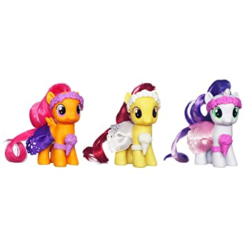 My Little Pony Wedding Flower Fillies Set Sweetie Belle Apple Bloom And