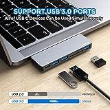 USB C Hub, 6 in 1 Aluminum Type C Hub