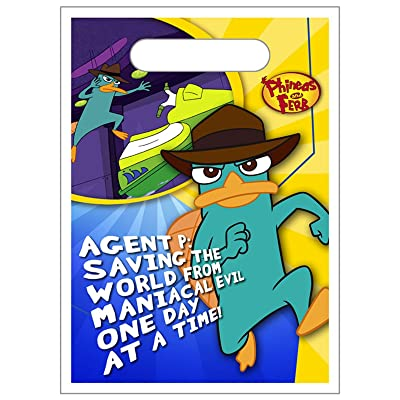 Hallmark Phineas and Ferb Favor Bags (8ct): Home & Kitchen