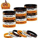 QBK Halloween Bracelets,Halloween Wristband Party Decoration, Halloween Patterns Rubber Band Bracelets Bracelet Wristbands fo