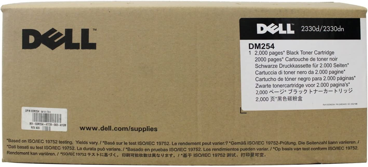 Dell DM254 Black Toner Cartridge 2330d/dn, 2350d/dn Laser Printer