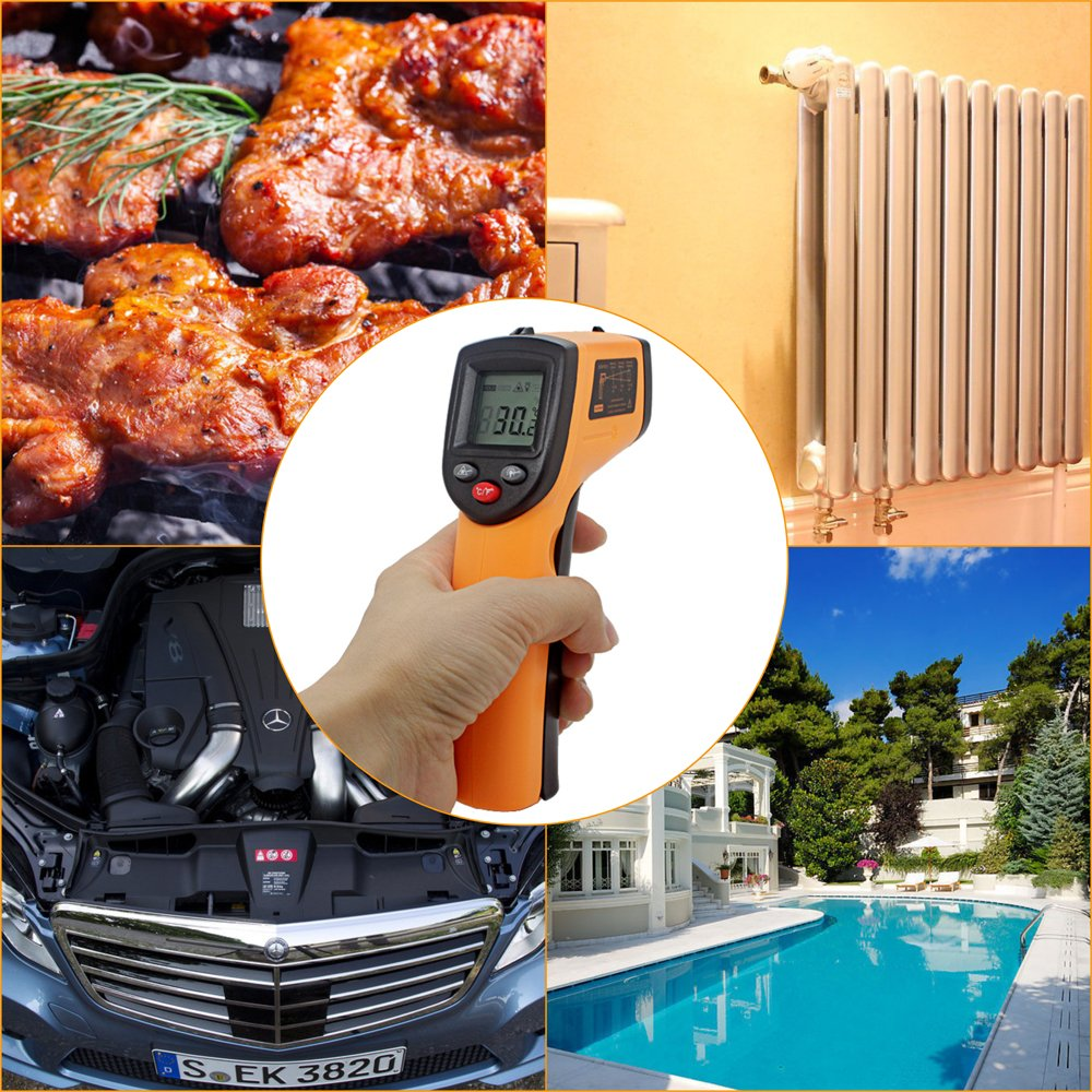 Infrared Thermometer from T&P Designs, Digital Laser & Non-Contact Temperature Gun, Measuring Range: -58°F to 716°F