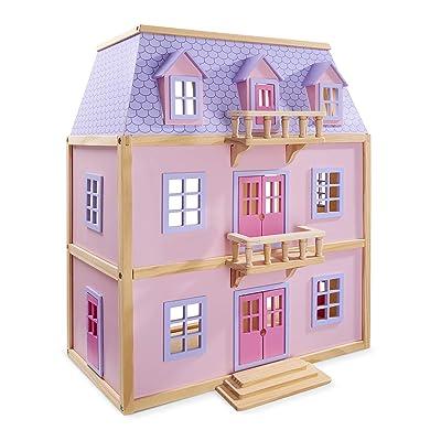 Melissa & Doug Multi-Level Wooden Dollhouse [Toy]: Toys & Games