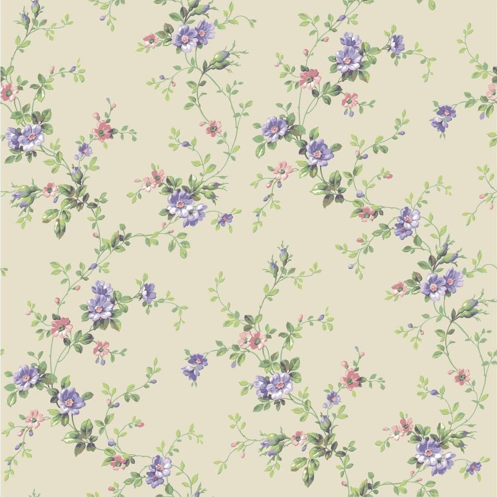 Amazon Com York Wallcoverings Casabella Ii Floral Trail Wallpaper