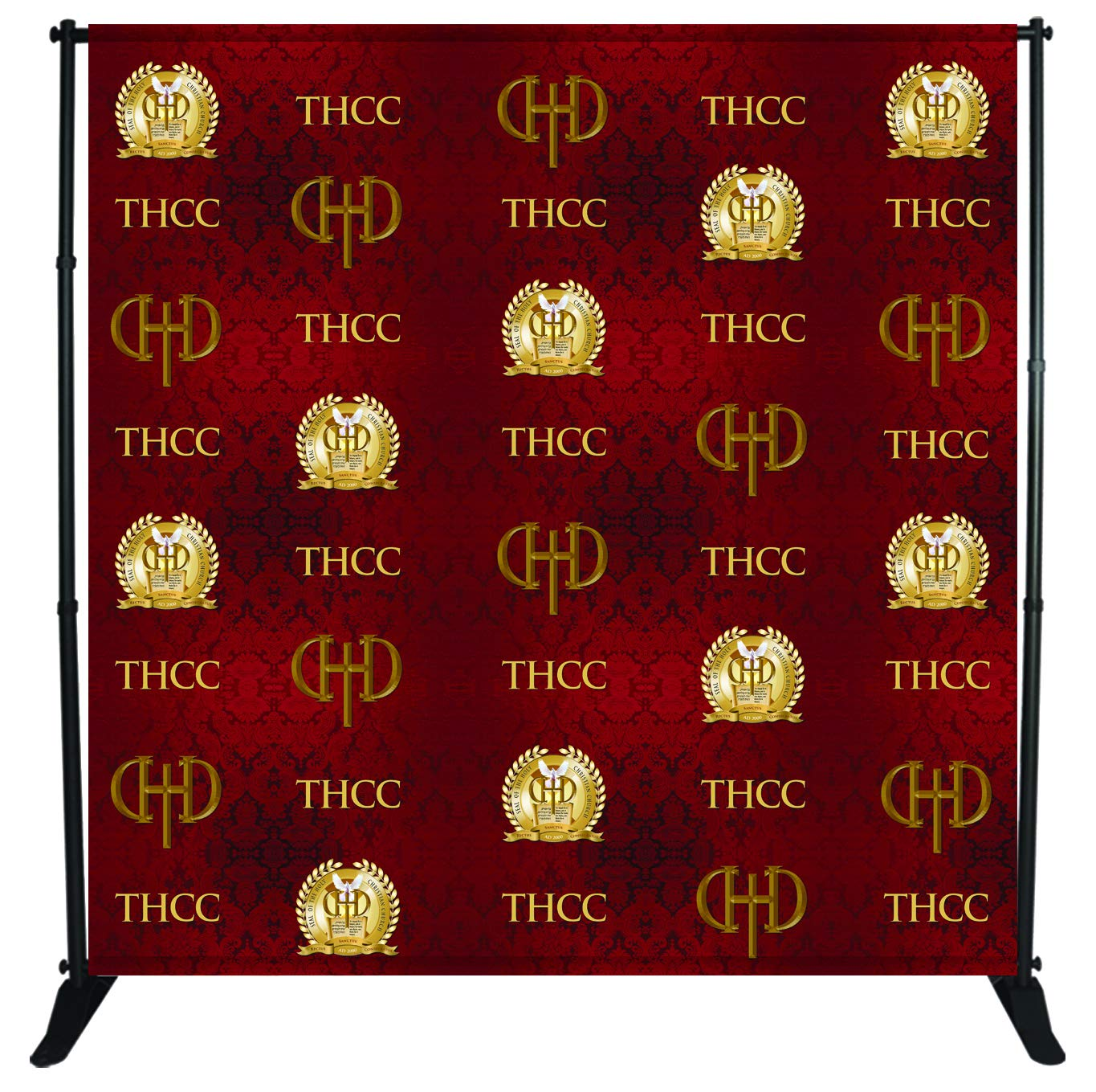 Photo Backdrop Banner Adjustable Stand 10 X 8 with Telescopic Poles for Trade Show Display Stand, Step and Repeat Frame Stand, Photography Booth - Carrying Case Free by BANNER BUZZ MAKE IT VISIBLE (Image #1)