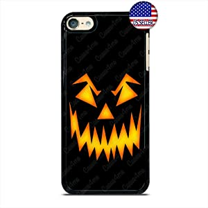 Halloween Phone Case Pumpkin Scary Face Slim Shockproof Hard Rubber Custom Case Cover for iPod Touch 7 6 5 4