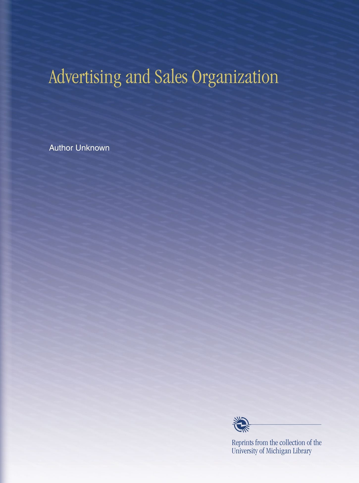 Advertising and Sales Organization