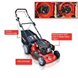 "Frisky Fox PLUS 20"" QUAD-CUT Self Propelled Petrol Lawn Mower 4-in-1 Mulching, Cutting, Collecting & Side Discharge Powered By 5.5HP 4-Stoke OHV Engine with Fitted Lawn Striper and 55L Grass Collection Bag"