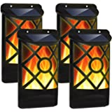 Ambaret Solar Flame Lights Outdoor, Wall Lights, Waterproof Flickering Flames Dark Sensor Auto On/Off Solar Powered Wall Moun